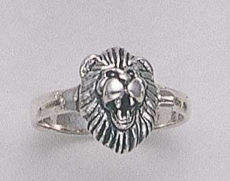 Roaring Lion Head Ring