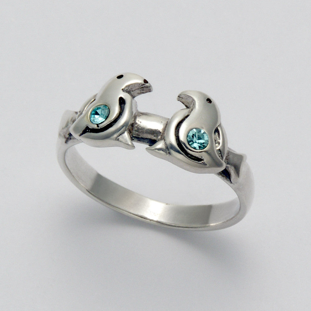 Two Seals with Blue Topaz Ring