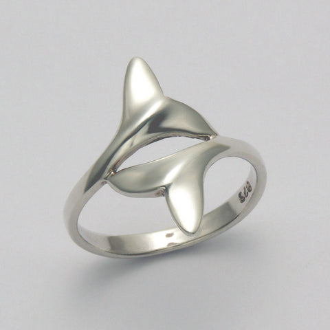 Small Two Whale Tail Ring