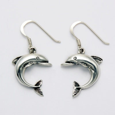 Arched Dolphin Earrings
