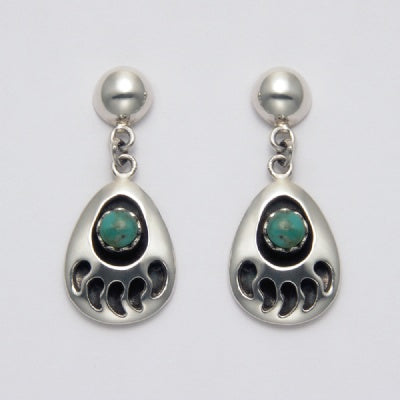 Bear Claw Turqoise Earrings