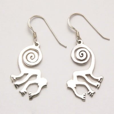 Flat Abstract Monkey Earrings