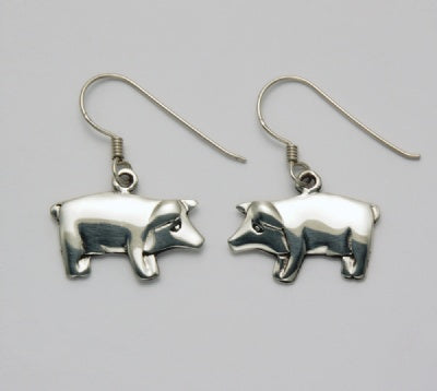 Flat Pig Earrings