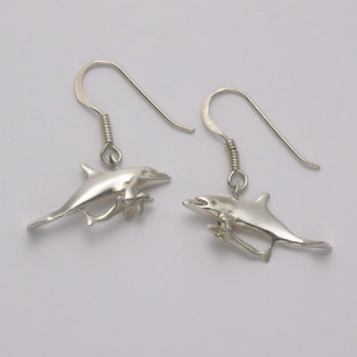 Dolphin Mother Over Baby Earrings
