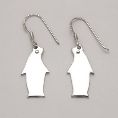 Flat Penguin Earrings
