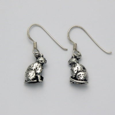 Small Sitting Cat Earrings