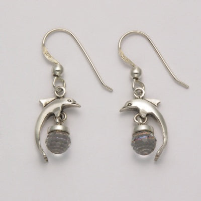 Dolphin with Crystal Earrings