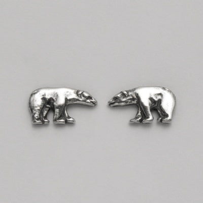 Small Polar Bear Stud Earrings