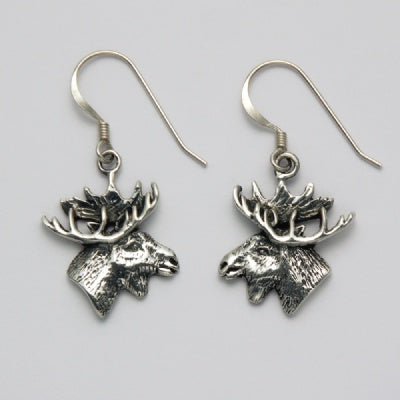 Moose Head Profile Earrings