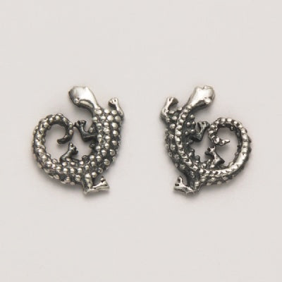 Small Coiled Lizard Earrings