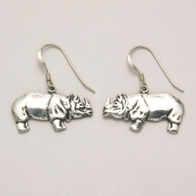 Flat Rhino Earrings