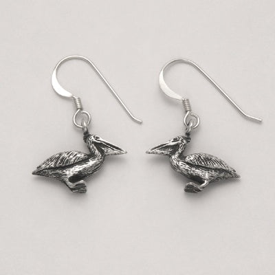 Sitting Pelican Earrings