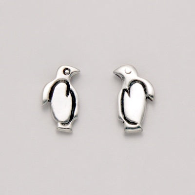 Small Flat Penguin Earrings