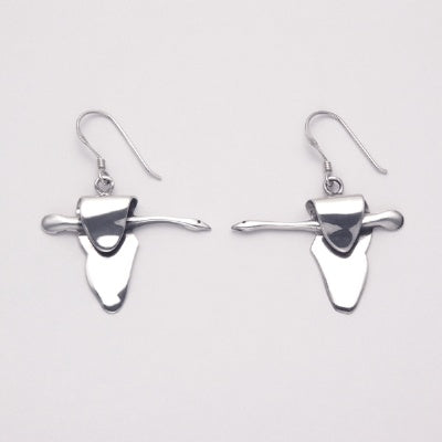 Sleek Flying Goose Earrings