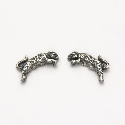 Small Jumping Jaguar Earrings