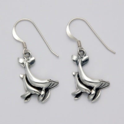 Mother and Baby Whale Earrings