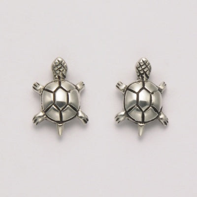 Top View Turtle Earrings