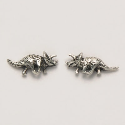 Small Triceratops Stud Earrings