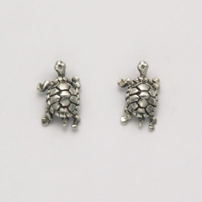 Small Walking Turtle Earrings