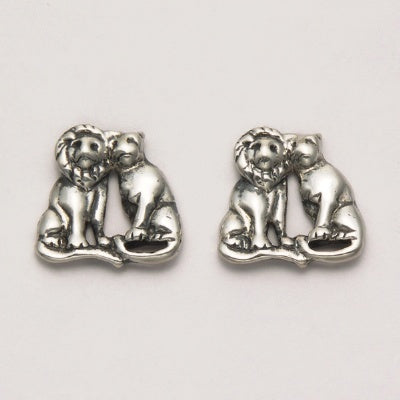 Male and Female Lion Earrings