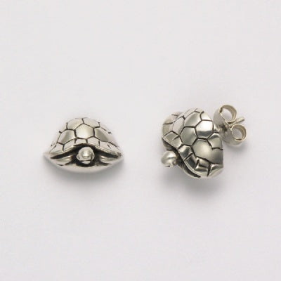 Front View Turtle Earrings