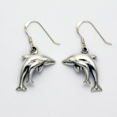 Dolphin Baby Over Mother Earrings