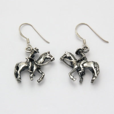 Horse with Rider Earrings