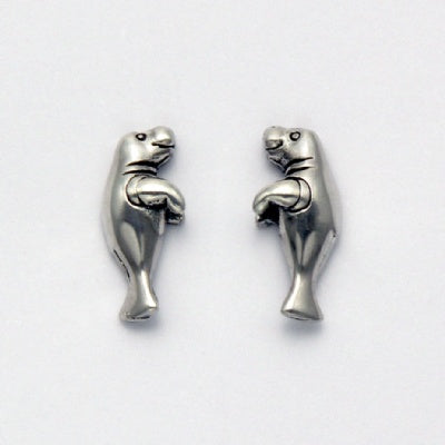 Small Manatee Stud Earrings
