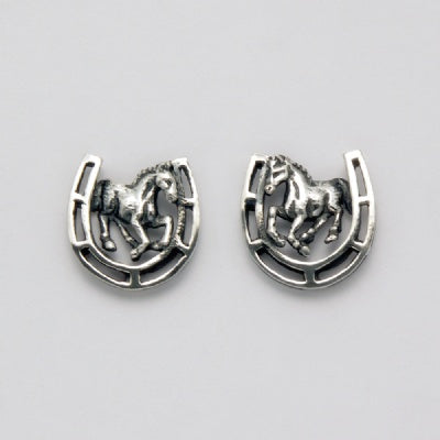 Horseshoe and Horse Earrings