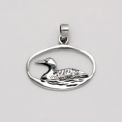 Duck in Open Oval Pendant