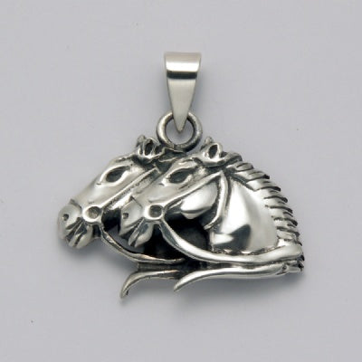 Neck and Neck Horse Pendant