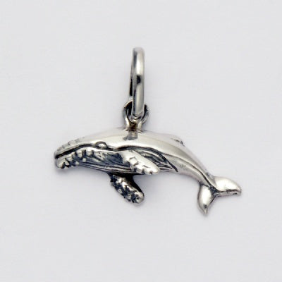Small Swimming Whale Pendant
