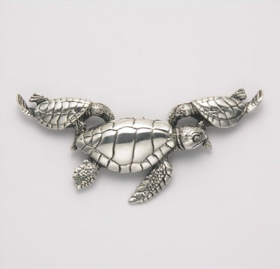 Mother with Two Babies Sea Turtle Pendant