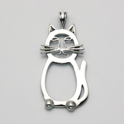 Flat Abstract Cat Pendant