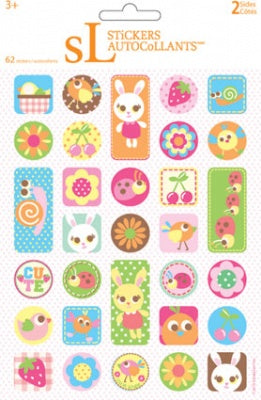 Bunnies Foldover Stickers