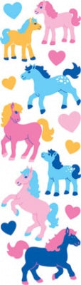Horse Puffy Fuzzy Slim Stickers