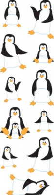 Penguin Puffy Fuzzy Slim Stickers