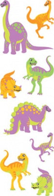 Dinosaur Puffy Fuzzy Slim Stickers