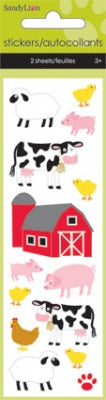On The Farm Pop Up Slim Stickers