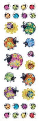 Ladybugs Gem Slim Stickers
