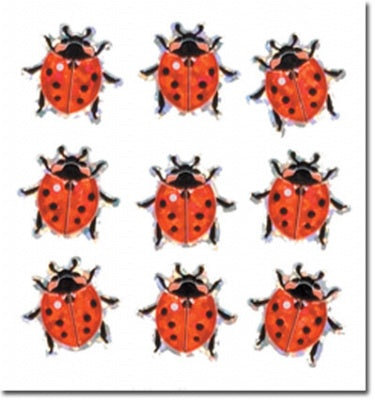 Mini Ladybug Prismatic Slim Stickers