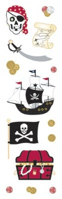 Pirates Prismatic Slim Stickers
