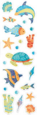 Underwater Shimmer Slim Stickers