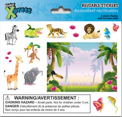 Jungle Animals Mini Foldover Stickers