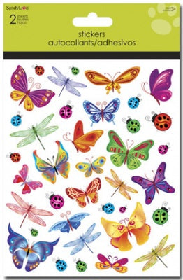 Butterflies, Dragonflies, Ladybugs Foldover Stickers