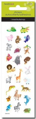 Zoo Animals  Foam Slim Stickers