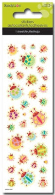 Ladybugs Foam Slim Stickers