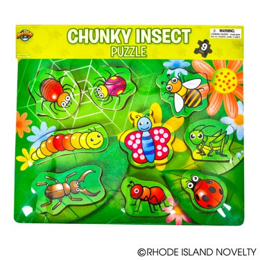 9-Piece Insect Theme Chunky Puzzle
