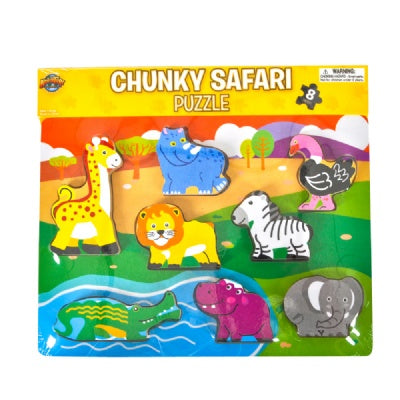 8-Piece Chunky Safari Animal Puzzle