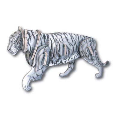 PhotoRealistic 3D White Tiger Wooden Puzzle/Kit